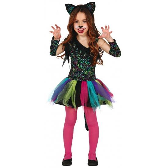 b590d69fe7b8d0 Gekleurd katten verkleedjurkje meisjes knuffeldier winkel